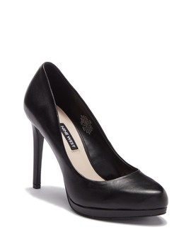 Norah Leather Platform Pump   Wide Width Available by Nine West