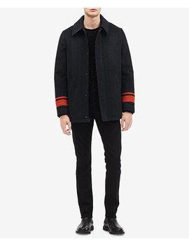 Mens Striped Car Coat by Calvin Klein