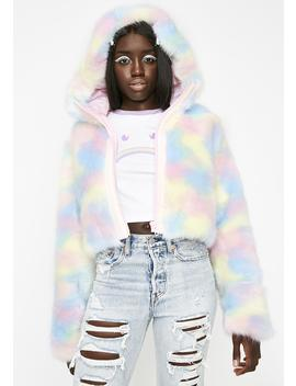 Lick The Lollipop Faux Fur Jacket by Sugar Thrillz