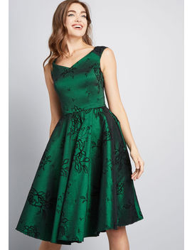 The Full Treatment Fit And Flare Dress by Modcloth
