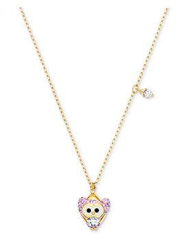 "Gold Tone Crystal Snow Owl Pendant Necklace, 14 4/5"" + ""3 Extender by Swarovski"