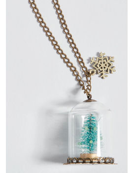 Pine And Time Again Pendant Necklace by Modcloth