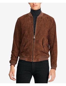 Men's Suede Bomber Jacket by Polo Ralph Lauren