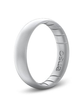 Enso Rings Thin Elements Silicone Ring | Handmade In The Usa | The Premium Fashion Forward Silicone Ring | Infused With Precious Metals & Timeless Luxury | Lifetime Quality Guarantee by Enso Rings