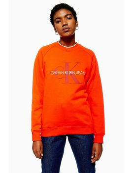 Satin Logo Sweatshirt By Calvin Klein by Topshop