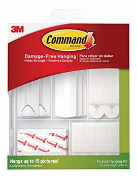 Command 17213 Es Kit Hangs Up To 15 Pictures, 38 Piece, White by Command