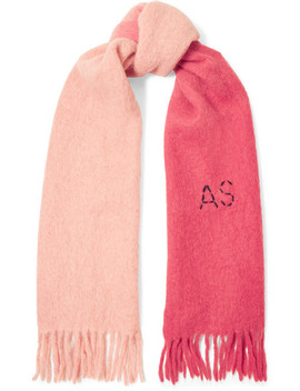 Kelow Two Tone Embroidered Felt Scarf by Acne Studios