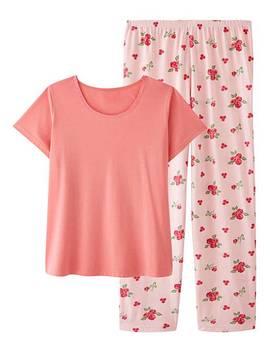 Pretty Secrets Short Sleeve Pyjama Set by Fashion World
