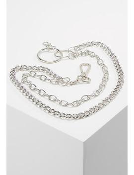 Silver Chunky Wallet Chain   Portachiavi   Silver by Hikari