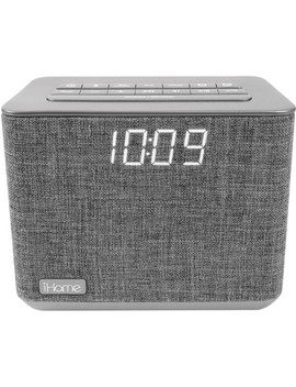 I Bt232 Dual Alarm Bluetooth Clock Radio (Gray) by I Home