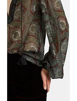 Paisley Wool Peasant Blouse by Saint Laurent