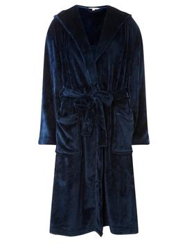 Navy Plain Super Soft Robe by Dorothy Perkins