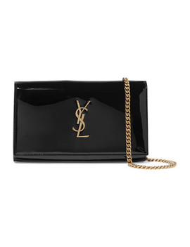 Sac Porté épaule En Cuir Verni Monogramme Kate Small by Saint Laurent