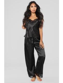 Needs More Attention Pj Set   Black by Fashion Nova