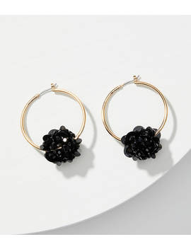 Sequin Flower Hoop Earrings by Loft