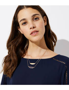 Half Circle Pendant Necklace Set by Loft