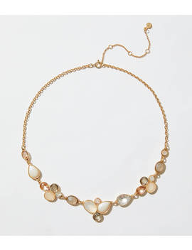 Pearlized Gem Necklace by Loft