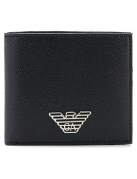 Logo Plaque Wallet by Emporio Armani
