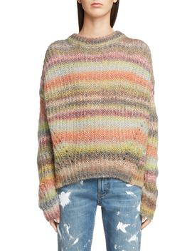 Knit Boxy Stripe Sweater by Acne Studios