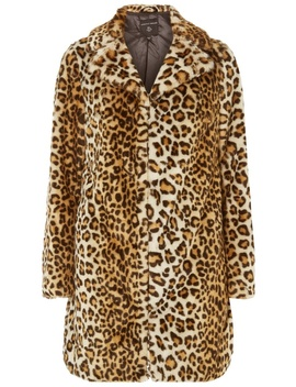 Leopard Print Faux Fur Coat by Dorothy Perkins