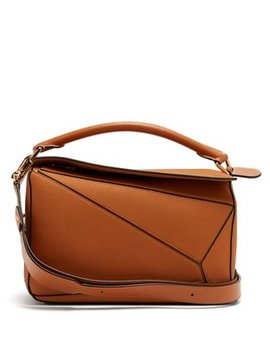 Puzzle Grained Leather Cross Body Bag by Matches Fashion