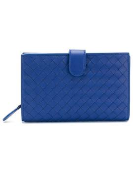 Cobalt Intrecciato Nappa Mini Wallet by Bottega Veneta