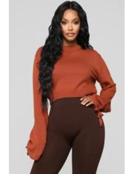 Look At Her Go Sweater   Rust by Fashion Nova