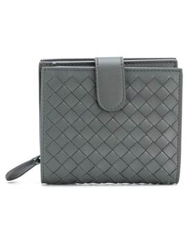 Light Gray Intrecciato Nappa Mini Wallet by Bottega Veneta