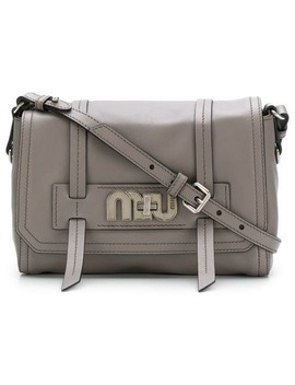 Logo Plaque Satchel by Miu Miu