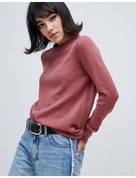 River Island Jumper With Crew Neck In Pink by River Island