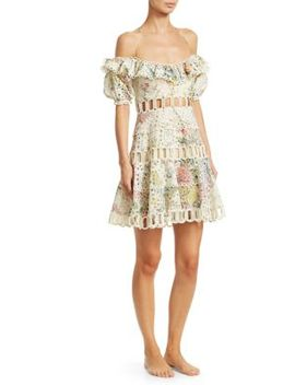Heathers Floral Off The Shoulder Dress by Zimmermann