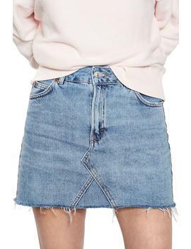 Denim Miniskirt by Topshop