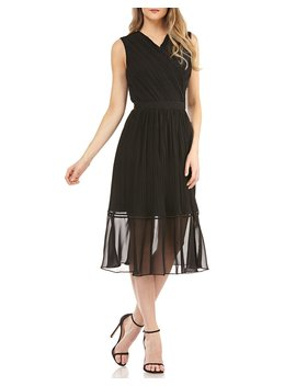 Pleated Chiffon Dress W/ Beading by Kay Unger New York