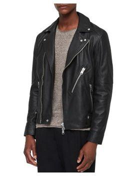 Naoki Leather Biker Jacket by Allsaints