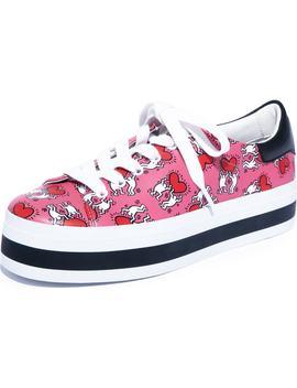 X Keith Haring Ezra Flatform Sneaker by Alice + Olivia