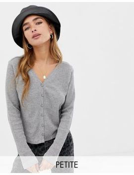 Noisy May Petite Textured Cropped Cardigan by Noisy May Petite