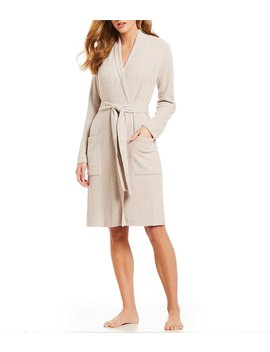 Cozy Chic Light Ribbed Short Wrap Robe by Barefoot Dreams