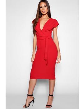 Tall Sleeveless Wrap Bodycon Dress by Boohoo