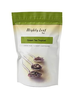 Mighty Leaf Loose Leaf Tropical Green Tea, 1 Pound Pouch Lightly Caffeinated Tropical Green Tea, Delicious As Hot Or Iced, Plain Or Sweetened W/Honey Or... by Mighty Leaf Tea
