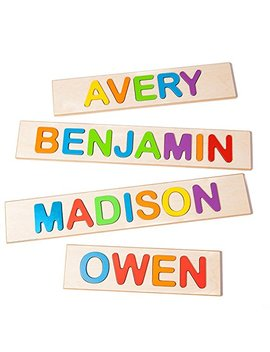 Fat Brain Toys Wooden Personalized Name Puzzle   Flat Rate Up To 9 Letters by Fat Brain Toys