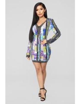 Shining Bright Sequin Dress   Multi by Fashion Nova