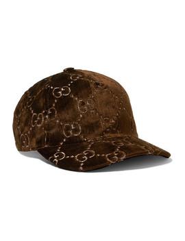 Metallic Velvet Jacquard Baseball Cap by Gucci