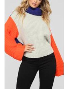 Gotta Have It Sweater   Orange Multi by Fashion Nova
