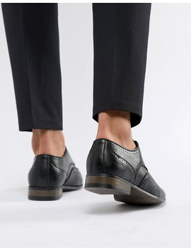 New Look Faux Leather Brogue In Black by New Look