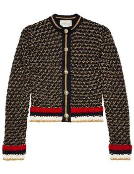 Lurex Blend Cardigan With Web by Gucci