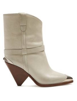 Lamsy Leather Boots by Matches Fashion