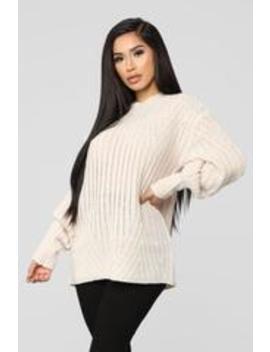 Saying Goodbye Sweater   Ivory by Fashion Nova