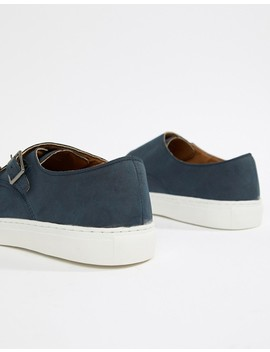New Look Monk Shoes In Navy by New Look