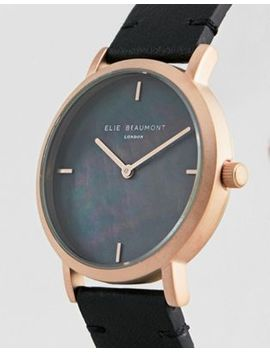 Elie Beaumont Eb814.5 Watch With Gold Case And Leather Strap by Watch