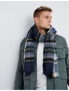 Esprit Knitted Checked Scarf by Esprit